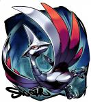 avian bird claws hi_res nintendo pokémon sido_(slipknot) skarmory video_games wings
