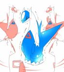 2014 blush camera claws dragon duo eyes_closed female feral latias latios legendary_pokémon male nintendo open_mouth pokémon rathikyou scalie smile tears video_games wings   Rating: Safe  Score: 1  User: N7  Date: March 20, 2015