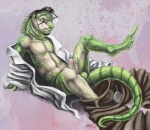 anthro beard belt biceps black_hair brown_eyes clothing erection facial_hair green_scales hair hemipenes humanoid_penis iguana lizard lying male multi_cock muscles on_back open_mouth open_shirt pants partially_clothed pecs penis removed_clothing reptile sabretoothed_ermine scalie shirt slit_pupils solo tail_between_legs tan_skin teeth transformation   Rating: Explicit  Score: 6  User: pc-king  Date: May 30, 2014