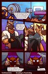 anthro canid canine canis clothing comic domestic_dog duo english_text german_shepherd herding_dog hi_res male mammal neckerchief nintendo pastoral_dog sniffing star_fox text undressing ventkazemaru video_games wolf wolf_o'donnell