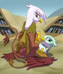 2015 3_toes absurd_res anus avian beak blue_eyes book bookshelf butt duo eyebrows eyelashes feathered_wings feathers female female/female feral friendship_is_magic gilda_(mlp) greta_(mlp) gryphon hi_res looking_at_viewer looking_back lying my_little_pony on_back on_top outside paws pussy sitting smile stoic5 tail_tuft toes tuft wings yellow_eyesRating: ExplicitScore: 123User: lemongrabDate: May 26, 2015