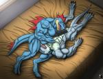 anthro bed dragon feraligatr hi_res kevindragon licking male male/male muscular nintendo oral oralsex penis pokémon reptile scalie sex tongue tongue_out video_gamesRating: ExplicitScore: 8User: hidronDate: April 11, 2017