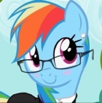 blue_fur blush ear_piercing equine eyewear female feral formal friendship_is_magic fur glasses hair horse looking_at_viewer multi-colored_hair my_little_pony piercing pony rainbow_dash_(mlp) rainbow_hair solo suit toomuchdanger   Rating: Safe  Score: 9  User: TooMuchDanger  Date: May 30, 2013