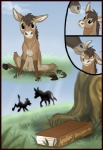 ambiguous_gender book comic donkey duo equine feral grass hair hooves mammal post_transformation spirit_pup transformation tree wood   Rating: Safe  Score: 3  User: TheDigiFurFan  Date: August 05, 2012