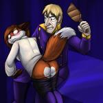 2015 alien anthro blush butt butt_heart canine clothed clothing duo female fox foxenawolf isla_aukate male mammal overlord_fox pants pants_down spanking uniform  Rating: Questionable Score: 7 User: Googlipod Date: September 28, 2015