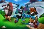 anthro azaleesh barefoot bulge canine caprine claws cloud confusion dickgirl dragon field forest fox goat grass gregory_klippenspringer horn intersex macro mammal meadow membranous_wings micro mill outside paw_lick pawpads paws running scalie sky stripes tree wings  Rating: Questionable Score: 7 User: Azaleesh Date: May 07, 2015