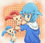group human mammal minum nintendo plusle pokémon video_games  Rating: Safe Score: 0 User: tengger Date: April 19, 2015