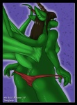 anthro breasts clothing dragon female hair horn jade_moontail panties rinienne scalie side_boob solo teasing tongue underwear undressing  Rating: Explicit Score: 8 User: h4x0r Date: April 12, 2015