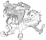 anal anal_penetration anthro balls black_and_white cowgirl_position cum cumshot dragon duo eastern_dragon ejaculation equine erection hooves horn hybrid inks interspecies kaputotter kirin looking_at_viewer lying male male/male male_penetrating mammal monochrome on_back on_top orgasm penetration penis raised_tail scalie sex simple_background straddling unicorn white_backgroundRating: ExplicitScore: 1User: The Dog In Your GuitarDate: May 03, 2008