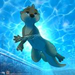 anthro arin_(letodoesart) blue_eyes brown_fur bubble fur letodoesart male mammal mustelid otter pool_(disambiguation) solo underwater water webbed_hands white_furRating: SafeScore: 11User: TheSpiderHunterDate: May 06, 2018