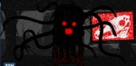 bone dark dead death digital_media_(artwork) female glowing glowing_eyes glowing_mouth horror looking_at_viewer monster nightmare_fuel rape_face red_eyes screen silhouette skull solo television tentacles zalgo zone zone-tan   Rating: Safe  Score: 26  User: ShyCrimson  Date: June 18, 2012
