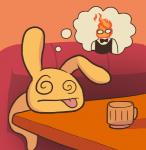 ambiguous_gender bow_tie cup drunk duo elemental eyewear fire_elemental fur glasses grillby jpmeshew lagomorph mammal rabbit solo_focus spiral_eyes suit thought_bubble tongue tongue_out undertale warm_colors yellow_fur  Rating: Safe Score: 6 User: ROTHY Date: September 27, 2015