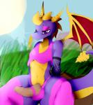 2016 absurd_res anthro balls day dragon erection girly hi_res jaynatorburudragon male outside penis sky solo spyro spyro_the_dragon video_games  Rating: Explicit Score: 10 User: Robinebra Date: May 02, 2016