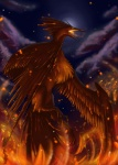 ambiguous_gender avian bird feathered_wings feathers fire legendary_pokémon moltres nintendo pokémon pokémon_(species) solo unknown_artist video_games wings