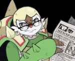 ambiguous_gender anthro chesnaught english_text eyewear glasses goodra newspaper nintendo parody pokémon reaction_image solo text unknown_artist video_games   Rating: Safe  Score: 26  User: Juni221  Date: December 07, 2014