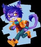 anthro bow_tie chibi clothed clothing feline looking_at_viewer male mammal smile solo standing yuxareRating: SafeScore: 0User: Cat-in-FlightDate: October 21, 2016