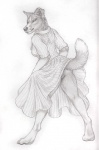 anthro barefoot border_collie canine clothing collie dog dress female hindpaw looking_back mammal miss_bindergarten_(character) no_underwear paws presenting pussy raised_tail rukis skirt solo upskirt  Rating: Explicit Score: 12 User: Airos Date: January 21, 2016