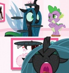 anxiety changeling comic crown crying damsel_in_distress dragon duo edit equine fan_character fear female friendship_is_magic hair helpless horn mammal mixermike622 my_little_pony panic queen_chrysalis_(mlp) royalty scared screaming spike_(disambiguation) spike_(mlp) stool sweat teardrop tears text whining wings  Rating: Safe Score: -3 User: takuto_shindou Date: January 10, 2016