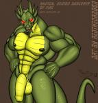 abs anthro balls biceps big_muscles big_penis black_tongue dragon flaccid forked_tongue glowing glowing_eyes green_nipples green_scales hi_res humanoid_penis jackie_chan_adventures looking_at_viewer male muscular nipples nude open_mouth pecs penis red_eyes renthedragon reptile scales scalie shendu solo standing teeth tongue uncut yellow_scales  Rating: Explicit Score: 13 User: Sbemail4500 Date: March 04, 2016