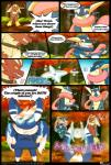 ambiguous_gender amphibian anthro avian blaziken collar comic dialogue digital_media_(artwork) english_text fire greninja group hi_res male mega_stone meowstic nintendo open_mouth outside pokémon redimplight standing teeth text tongue video_games   Rating: Safe  Score: 7  User: Vetom  Date: February 11, 2015