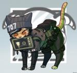 alternate_species cat dokkaebi_(siege) eyewear feline female flag furrification glasses hat korea mammal numbers rainbow_six rainbow_six:_siege shurueder tablet tom_clancy toony ubisoft