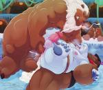 anal anal_penetration anthro balls bear belly clenched_teeth cum cum_in_ass cum_inside cum_on_self damingo donkey_kong_(series) double_anal double_penetration forced male male/male mammal nintendo overweight penetration penis slightly_chubby teeth video_games  Rating: Explicit Score: 6 User: BearFever Date: April 09, 2016