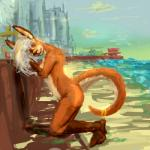 anthro beach breasts city cityscape female green_eyes hair kangaroo mammal marsupial nude painting pose printscharming_(artist) sea seaside side_boob smile solo water   Rating: Questionable  Score: 2  User: KangaSchlong  Date: May 14, 2015