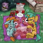 anus balls bedding blanket blue_balls bootleg butt canada canada_day cub equine feral freckles friendship_is_magic frustration group hi_res horn male mammal my_little_pony penis picnic pipsqueak_(mlp) sex_doll sex_toy smudge_proof snails_(mlp) snips_(mlp) spike_(mlp) sweat trixie unicorn voyeur young
