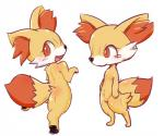 b_cottontail blush butt butt_pose cute_fangs dipstick_tail featureless_crotch feet female fennekin full_body fur inner_ear_fluff looking_at_viewer multicolored_tail multiple_angles nintendo nude open_mouth orange_fur pawpads pokémon pokémon_(species) rear_view red_eyes semi-anthro simple_background smile solo standing video_games white_background yellow_furRating: SafeScore: 6User: ZapdosDate: March 05, 2018