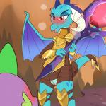 1:1 anthro armor blush clothed clothing cold-blooded-twilight dragon duo female friendship_is_magic hi_res horn male my_little_pony naughty_face open_mouth partially_clothed princess_ember_(mlp) pussy pussy_juice red_eyes scalie size_difference solo_focus spike_(mlp) standing tongue wings  Rating: Explicit Score: 30 User: DeltaFlame Date: April 17, 2016