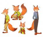 2016 anthro canine clothed clothing disney duo fox hi_res male mammal nick_wilde simple_background standing white_background zootopia よし  Rating: Safe Score: 1 User: Vallizo Date: April 30, 2016