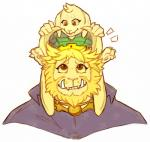 2015 3_toes anthro asgore_dreemurr asriel_dreemurr beard blonde_hair brown_eyes caprine claws clothed clothing crown cub duo facial_hair fangs goat hair hydettezen male mammal monster paws pink_nose royalty simple_background size_difference smile teeth toes undertale video_games white_background young  Rating: Safe Score: 15 User: Megaera Date: December 30, 2015