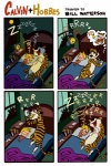alarm_clock bed calvin calvin_and_hobbes comic eating feline galgard hobbes human humor morning night noisy sleeping snore stripes tiger   Rating: Safe  Score: 10  User: Krona  Date: May 30, 2011