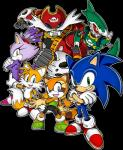 anthro blaze_the_cat canine captain_whisker cat feline female fox group hedgehog johnny machine male mammal marine_the_raccoon miles_prower official_art raccoon robot sonic_(series) sonic_(sonic) sonic_rush_adventure  Rating: Safe Score: 2 User: Rad_Dudesman Date: September 29, 2014