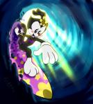 abstract animaniacs backlit black_fur blush clothing dot_warner female flower flower_in_hair fur furnut gloves hi_res mammal mostly_nude perspective plant pussy smile solo surfboard surfing swimsuit warner_brothers water wave wet  Rating: Explicit Score: 2 User: Cimatrie Date: December 05, 2015