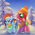 """big_macintosh_(mlp) blush clothing digital_media_(artwork) duo earth_pony equine female feral forest friendship_is_magic gift hat hi_res horse male mammal my_little_pony outside pegasus pony rainbow_dash_(mlp) sky smudge_proof snow sweater tree tsundere wings young  Rating: Safe Score: 12 User: Smudge_Proof Date: January 01, 2015"""""""