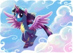 2014 adlynh cloud cloudscape equine eyewear female feral flying friendship_is_magic goggles hair horn looking_at_viewer mammal my_little_pony outside purple_eyes purple_hair skinsuit sky solo twilight_sparkle_(mlp) winged_unicorn wings wonderbolts_(mlp)   Rating: Safe  Score: 10  User: 2DUK  Date: September 20, 2014