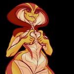 """alpha_channel anthro breasts fangs female forked_tongue long_tongue looking_at_viewer pink_eyes plagueofgripes plain_background reptile scalie smile snake solo tongue tongue_out transparent_background video_games viper_(x-com) wide_hips x-com  Rating: Questionable Score: 8 User: biznasty2 Date: June 13, 2015"""""""
