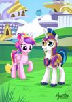 2015 armor duo equine female feral friendship_is_magic horn male mammal my_little_pony mysticalpha princess_cadance_(mlp) shining_armor_(mlp) smile unicorn winged_unicorn wings   Rating: Safe  Score: 10  User: Robinebra  Date: March 05, 2015