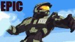 alien amazing ambiguous_gender animated anime cloud covenant dialogue duo english_text explosion fight fist fist_bump grass halo_(series) halo_legends human low_res mammal meme mountain muscular not_furry outside punch sky solo spartan spartan-1337 text tree unknown_artist video_games