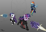 armor equine female feral friendship_is_magic group gun horn lunar_apologist mammal mass_effect my_little_pony parody pegasus rainbow_dash_(mlp) ranged_weapon rarity_(mlp) twilight_sparkle_(mlp) unicorn video_games weapon wings  Rating: Safe Score: 7 User: Princess_Celestia Date: June 06, 2011