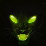 ambiguous_gender angry black_background cat dark empty_eyes fangs feline feral glowing green_eyes looking_at_viewer mammal mzungu open_mouth simple_background solo spooky velociawesome  Rating: Safe Score: 17 User: Syg Date: May 16, 2012