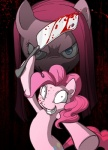 2012 abstract_background blood blue_eyes cleaver cutie_mark earth_pony equine female friendship_is_magic fur grin hair horse insane knife looking_at_viewer mammal melee_weapon mizwoman my_little_pony pink_fur pink_hair pinkamena_(mlp) pinkie_pie_(mlp) pony simple_background smile solo weapon  Rating: Questionable Score: 7 User: Falord Date: June 04, 2013