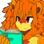 book bust_portrait digital_media_(artwork) feline front_view holding_book holding_object lion male mammal mane nude portrait pyro_(whiteleo) reading signature solo whiteleo  Rating: Safe Score: 0 User: Circeus Date: February 05, 2016