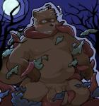 2015 anthro balls belly big_balls blush brown_fur canid canine flaccid fur hi_res humanoid_hands humanoid_penis male mammal moobs moon navel nazimi00 night nipples overweight overweight_male penis raccoon_dog solo tanuki teeth tentaclesRating: ExplicitScore: 5User: mapachitoDate: March 24, 2019