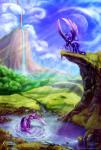 2015 blue_eyes cliff cutie_mark duo equine female feral friendship_is_magic fur hair hi_res horn lake mammal mountain multicolored_hair my_little_pony nature open_wings outside princess_luna_(mlp) purple_fur purple_hair tsitra360 twilight_sparkle_(mlp) two_tone_hair viwrastupr winged_unicorn wings  Rating: Safe Score: 20 User: Somepony Date: August 05, 2015
