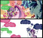 <3 comic cutie_mark dialogue dragon english_text equine female friendship_is_magic group horn infidelity male mammal my_little_pony one_eye_closed open_mouth princess_cadance_(mlp) scalie shining_armor_(mlp) spike_(mlp) text tongue tongue_out twilight_sparkle_(mlp) unicorn unknown_artist winged_unicorn wings wink   Rating: Safe  Score: 12  User: SheraThoz  Date: May 31, 2014