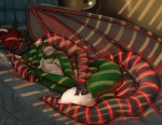 bed black_dragon canine claws couple cuddling cute dragon fareed firetally gay glowing hair horn male scalie sleeping snowywolf stripes wings wolf   Rating: Safe  Score: 16  User: KillerDragn  Date: February 09, 2013