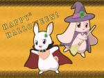 <3 broom brown_eyes cape chest_tuft chima clothing clover costume cute duo eyelashes female fur halloween happy_happy_clover hat holidays lago lagomorph long_ears looking_at_viewer lop_eared_bunny magic_user mallow mammal meru pink_fur pixiv purple_eyes rabbit sayuri_tatsuyama shamrock short_fur tuft vampire white_fur witch   Rating: Safe  Score: 1  User: CloverTheRabbit  Date: February 16, 2015