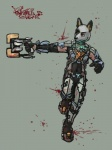 anthro armor blood clothed clothing dead_space fur gun isaac_clarke male mammal plasma_cutter ranged_weapon simple_background sligarthetiger solo video_games weapon  Rating: Safe Score: 2 User: Arandus Date: August 30, 2011